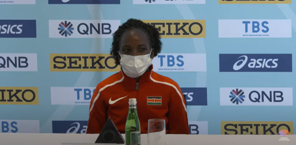 Peres Jepchirchir, women-only race world record holder for the distance, is confident she will be part of a victorious Kenyan team tomorrow at the World Half Marathon Championships in the Polish city of Gdynia ©World Athletics