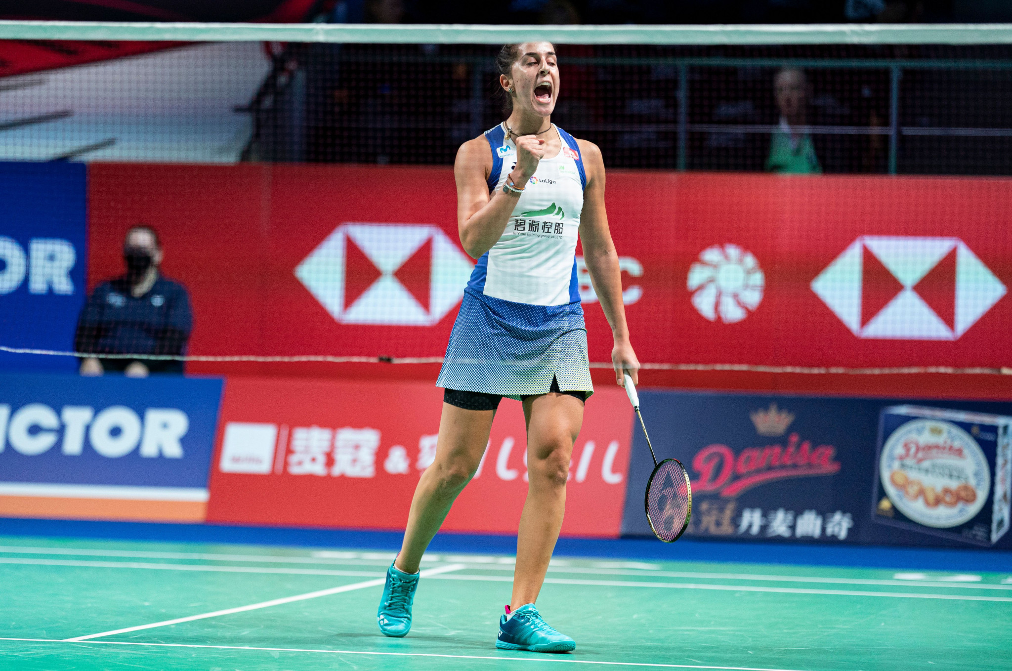 Marin battles back to book place in BWF Denmark Open semi-finals