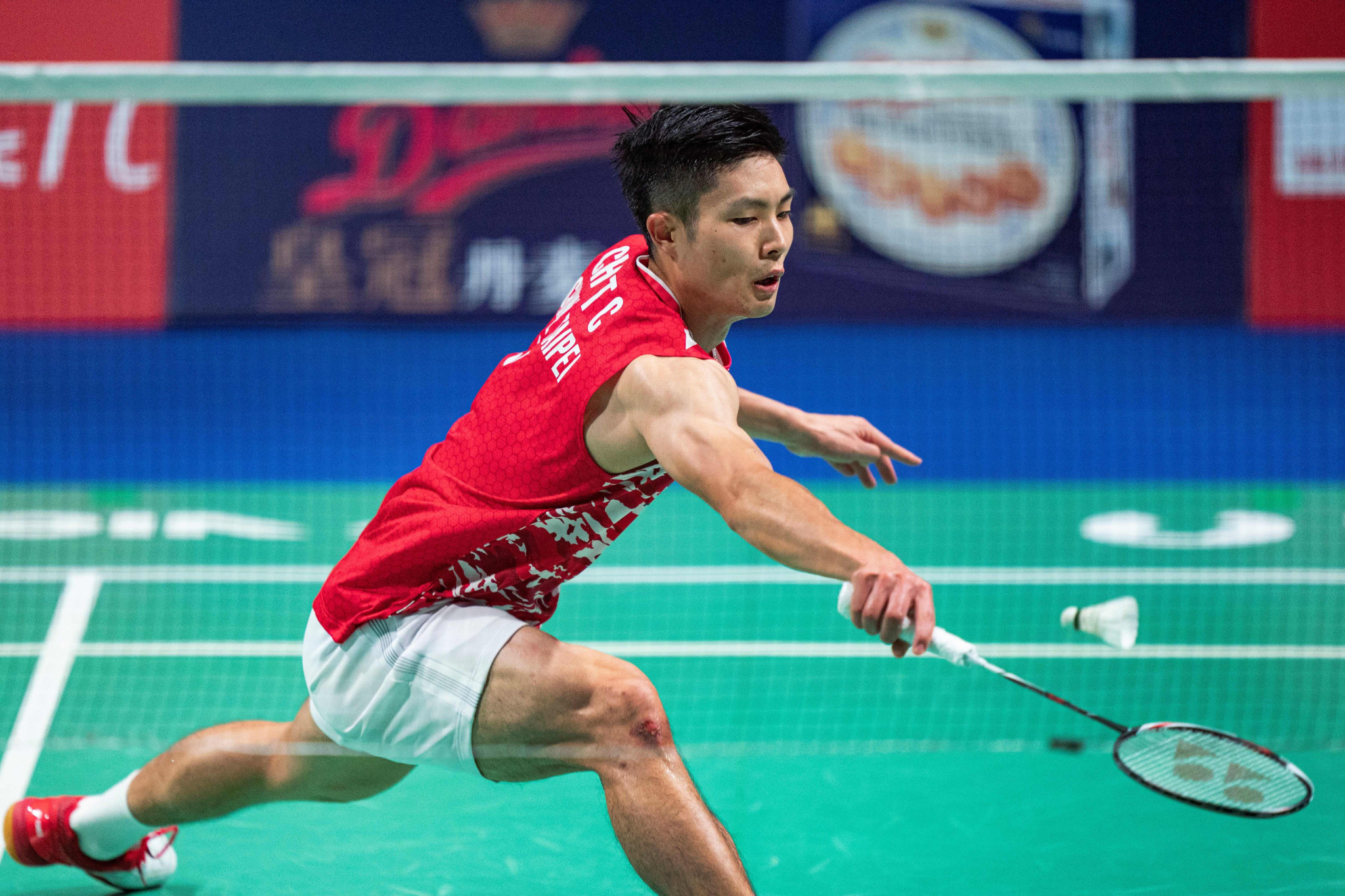 Chou Tien Chen won a tight match against India's Srikanth Kidambi to reach the last four ©Getty Images