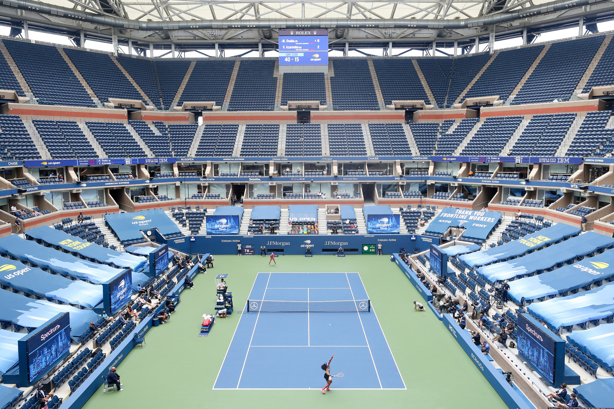 The US Open was recently staged behind closed doors ©Getty Images