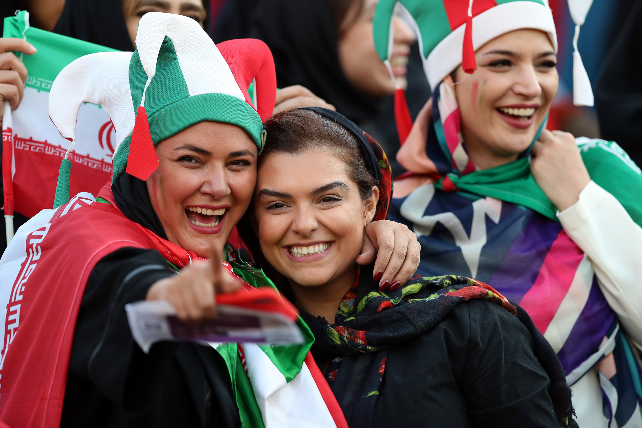 Women were allowed into Iran's football match against Cambodia at the Azadi Stadium in October 2019, breaking a 40-year ban ©Getty Images
