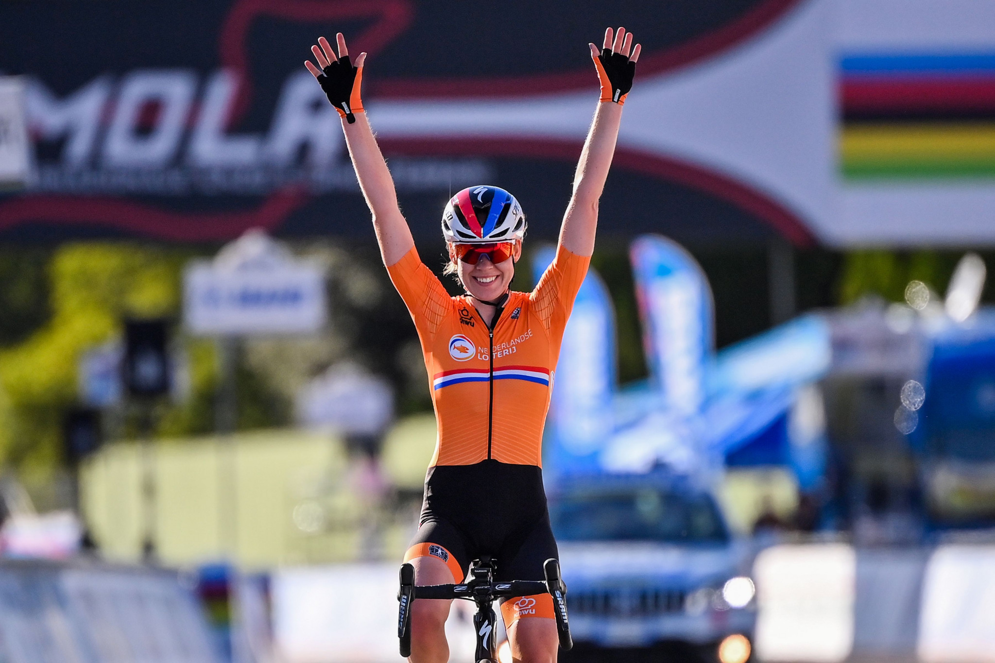 Women's world champion Anna Van Der Breggen of the Netherlands lines up for the Tour of Flanders tomorrow ©Getty Images