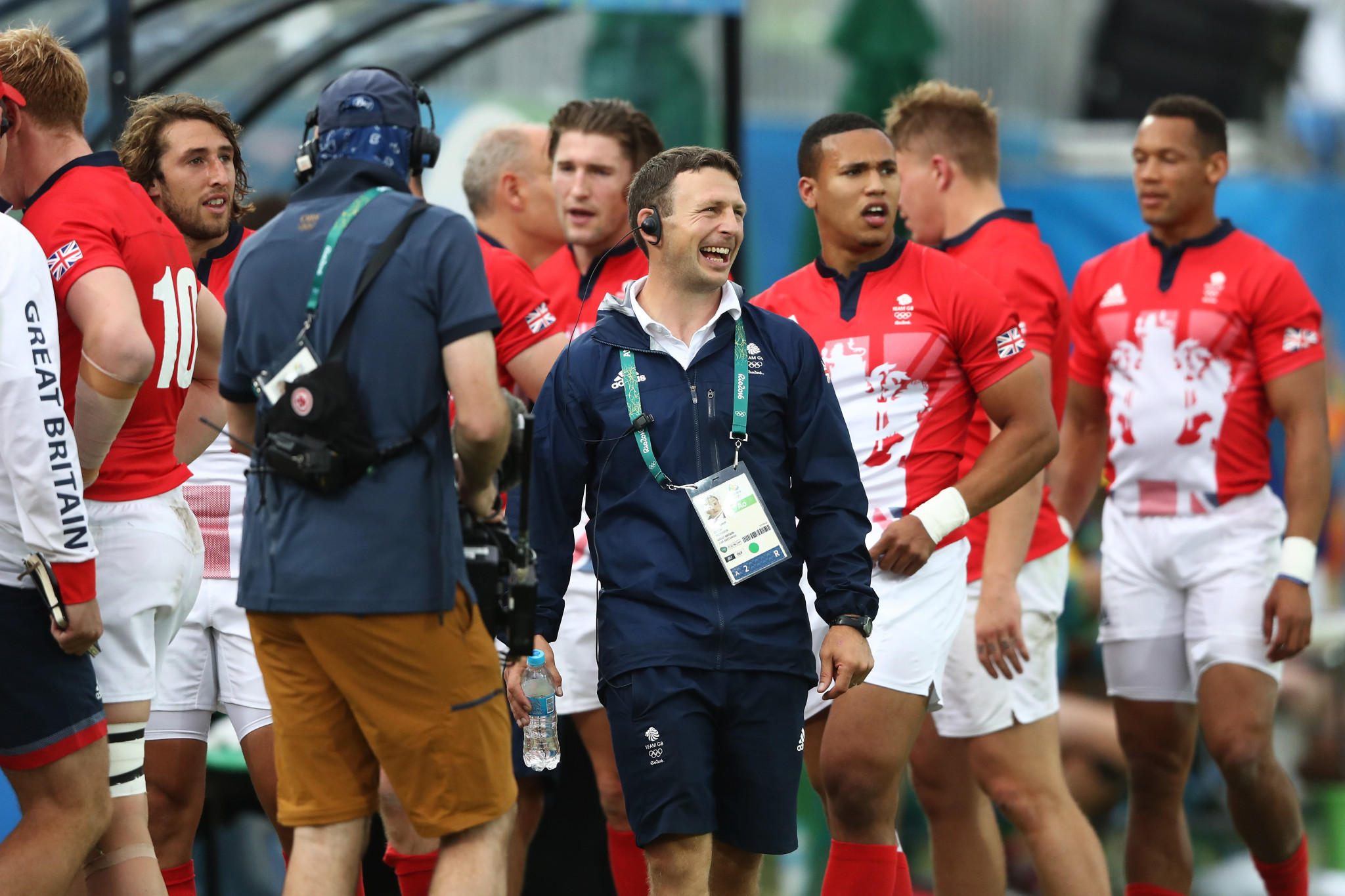 Coach Simon Amor guided Britain's men's sevens team to a silver medal at Rio 2016 ©Getty Images