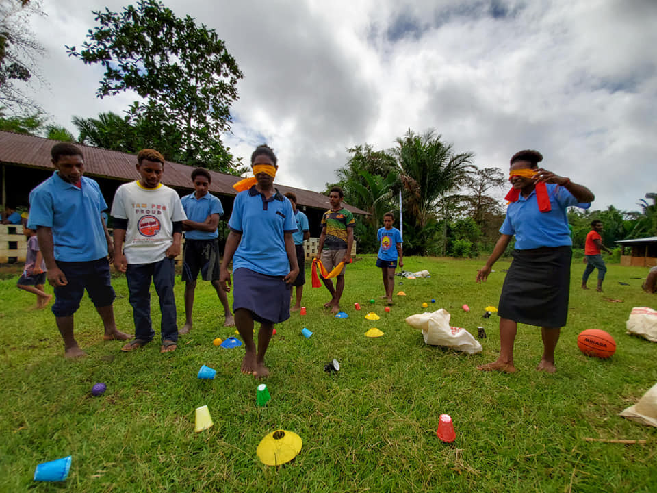 Students at Kitomave SDA Primary participate in activities as part of the programme ©PNGOC