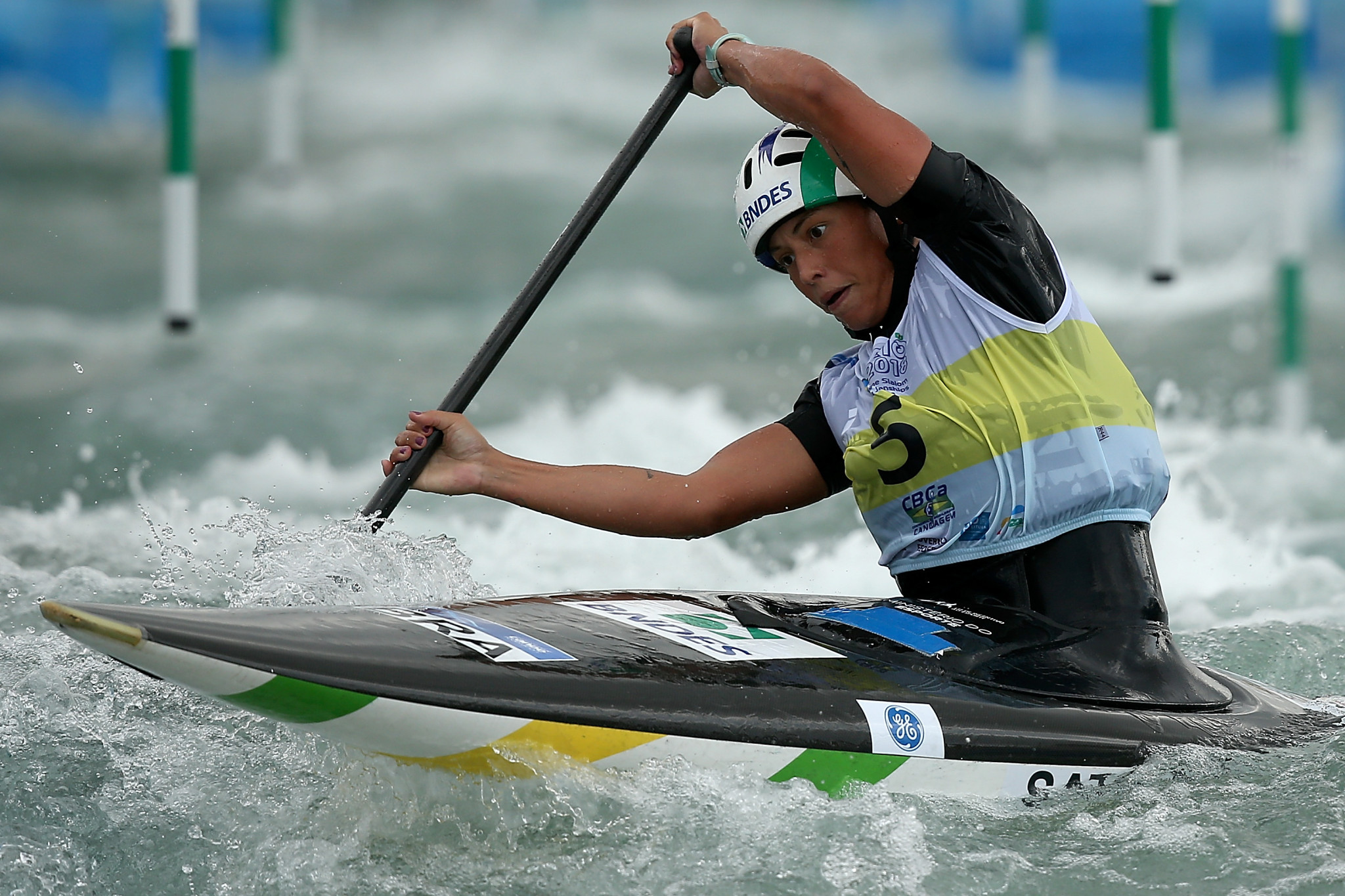 Brazil's Ana Satila claimed her first ICF Canoe Slalom World Cup gold in Tacen ©Getty Images
