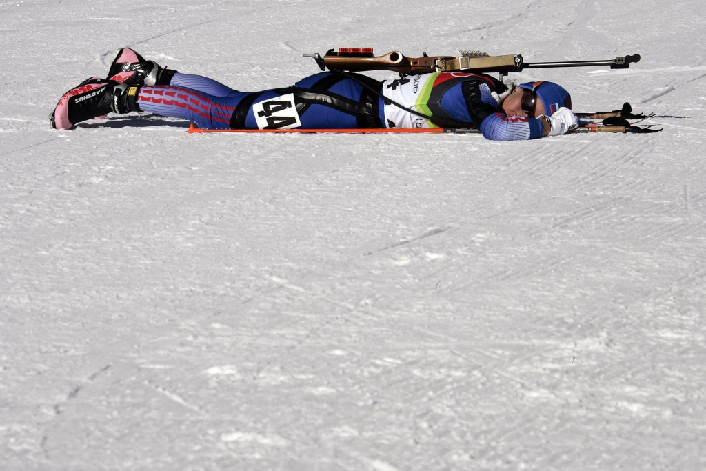 Olga Pyleva, pictured lying on the snow after initially winning her Olympic silver medal, was the only athlete to fail a test during the Turin 2006 Games ©Getty Images
