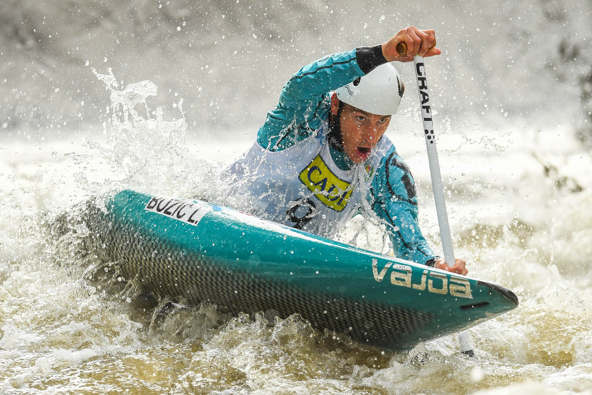 Luka Božič boosted his hopes of representing Slovenia at Tokyo 2020 with victory at the ICF Canoe Slalom World Cup in Tacen ©Getty Images