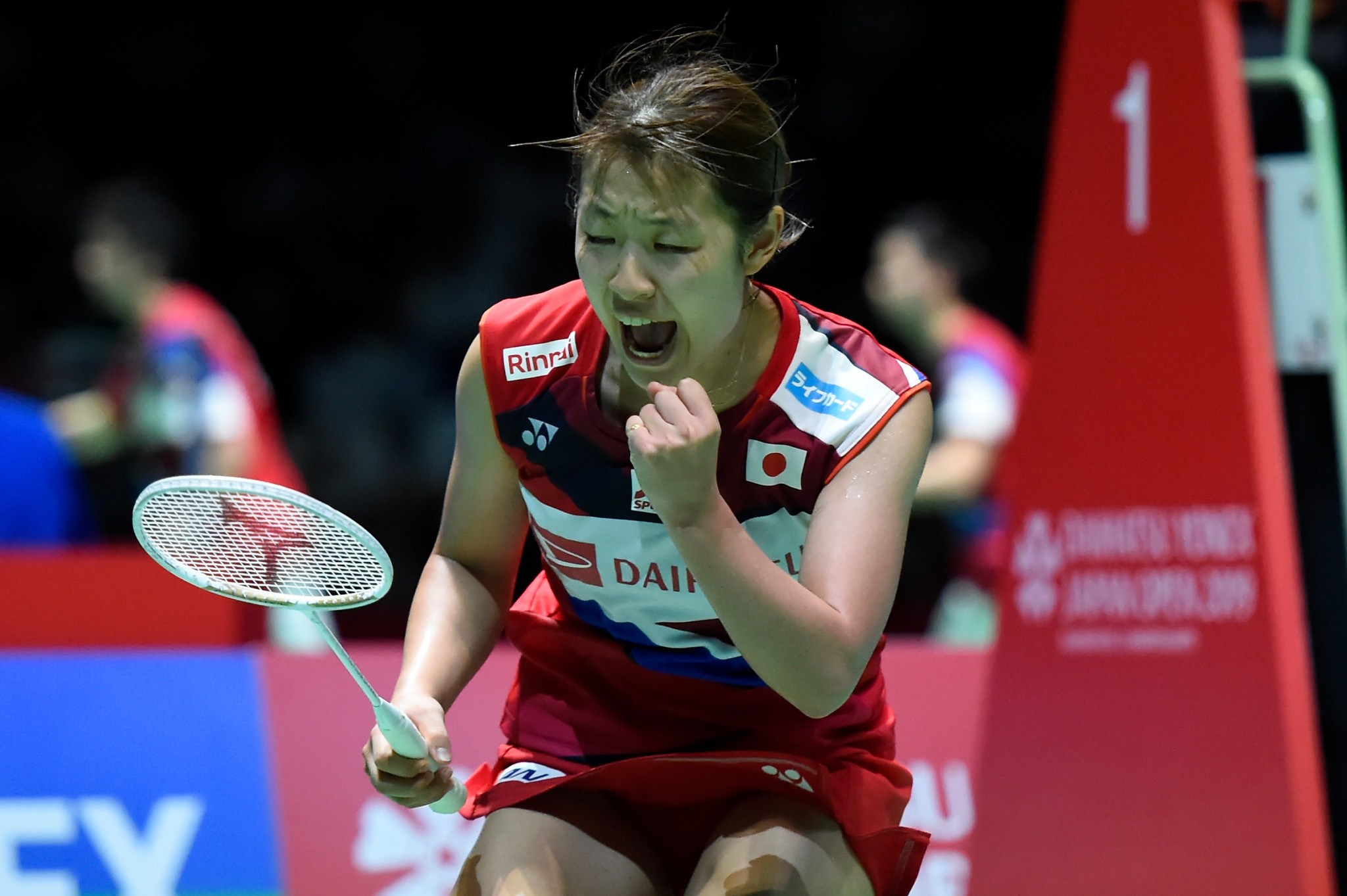 Nozomi Okuhara of Japan fended off a strong challenge from Spain's Carolina Marin to secure the women's singles crown ©Getty Images