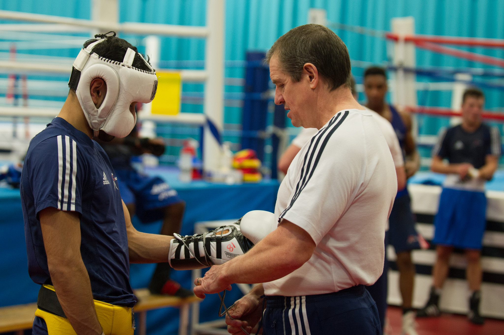 Paul Walmsley, left, has played a big part in Britain's boxing success over the past decade ©GB Boxing