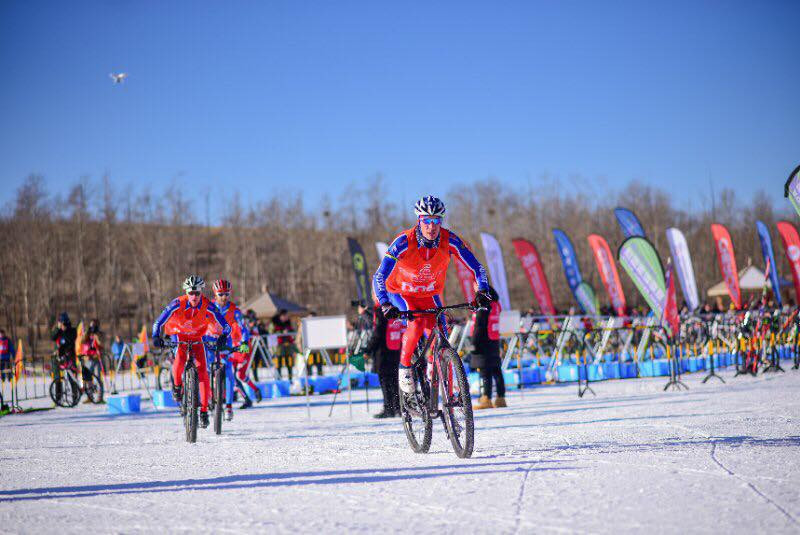 Winter triathlon involves running, mountain biking and skiing ©World Triathlon