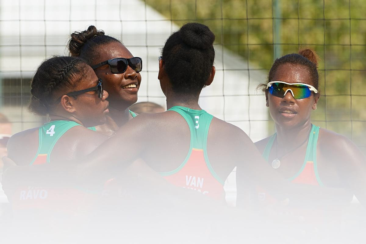 Vanuatu enjoyed a shock volleyball win at last year's World Beach Games ©ANOC
