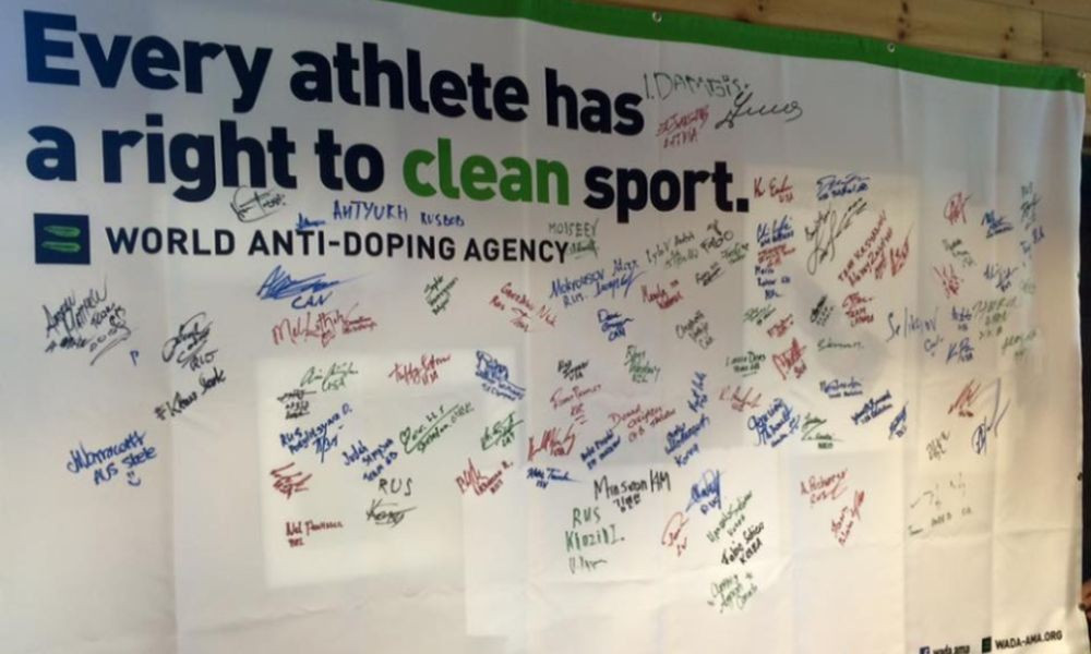Athletes at the IBSF World Cup have also been invited to sign the WADA Clean Sport Pledge
