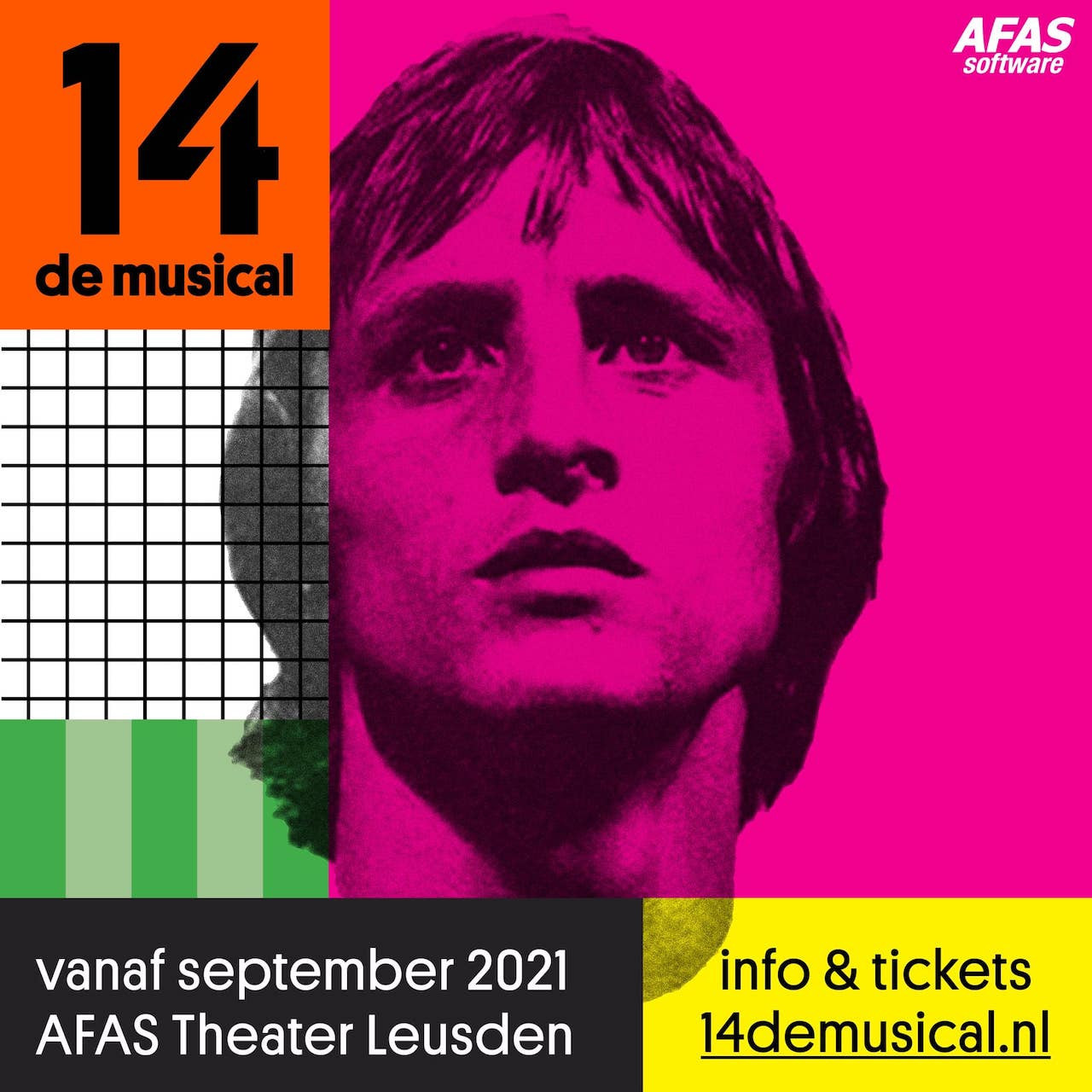 Johan Cruyff's life is to be celebrated in a new theatre production, 14 de musical ©Out Of Office Productions