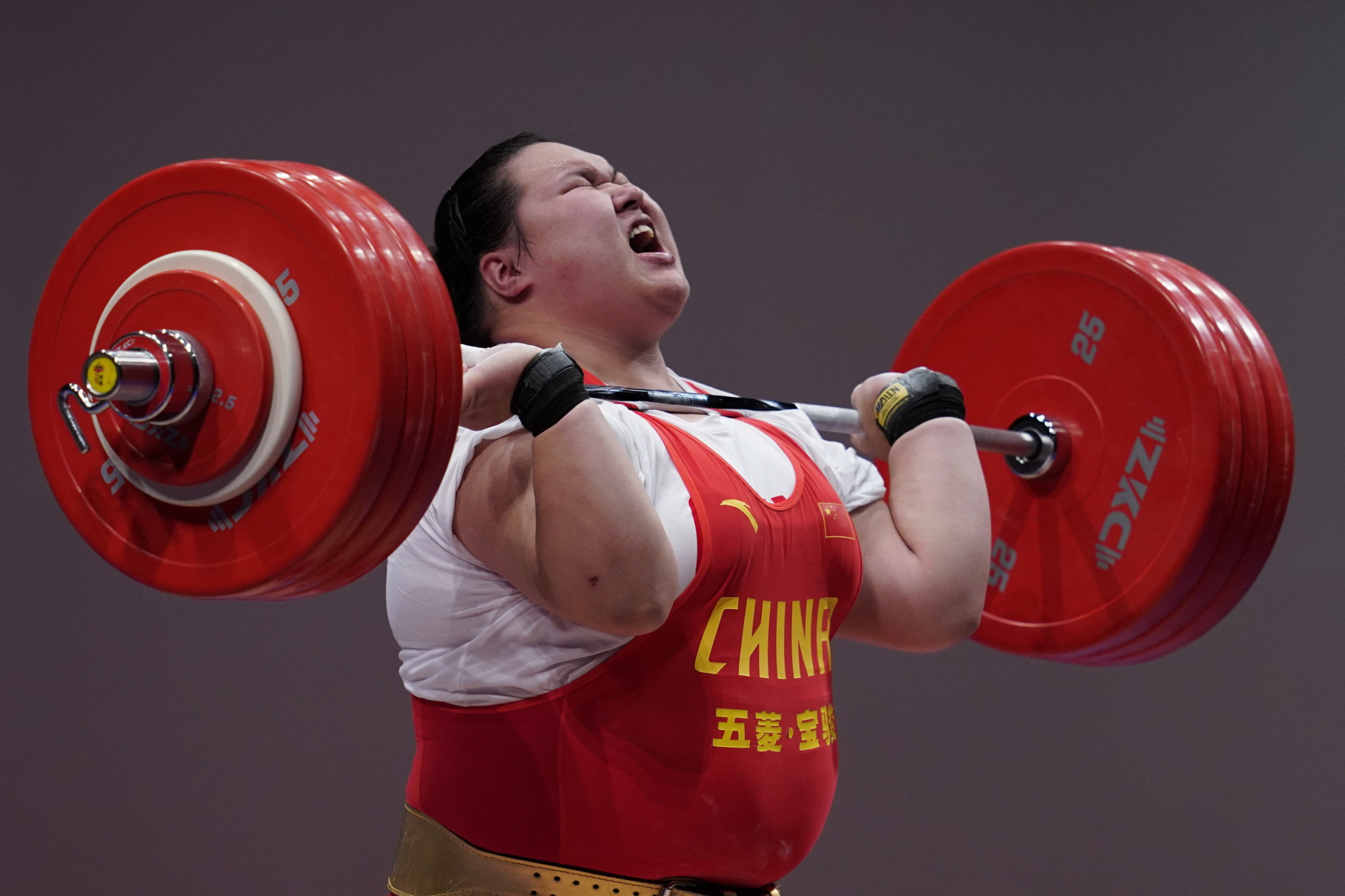 Li Wenwen was a convincing winner in the super-heavyweight division ©Getty Images