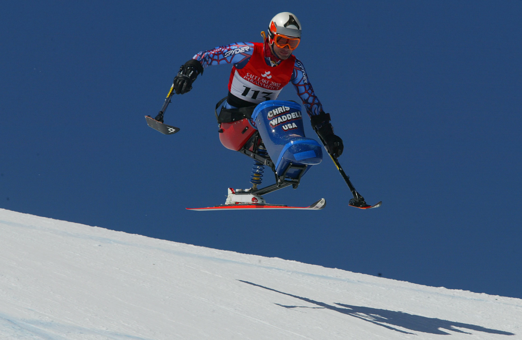 Chris Waddell won three medals at teh Salt Lake City 2002 Winter Paralympics ©Getty Images