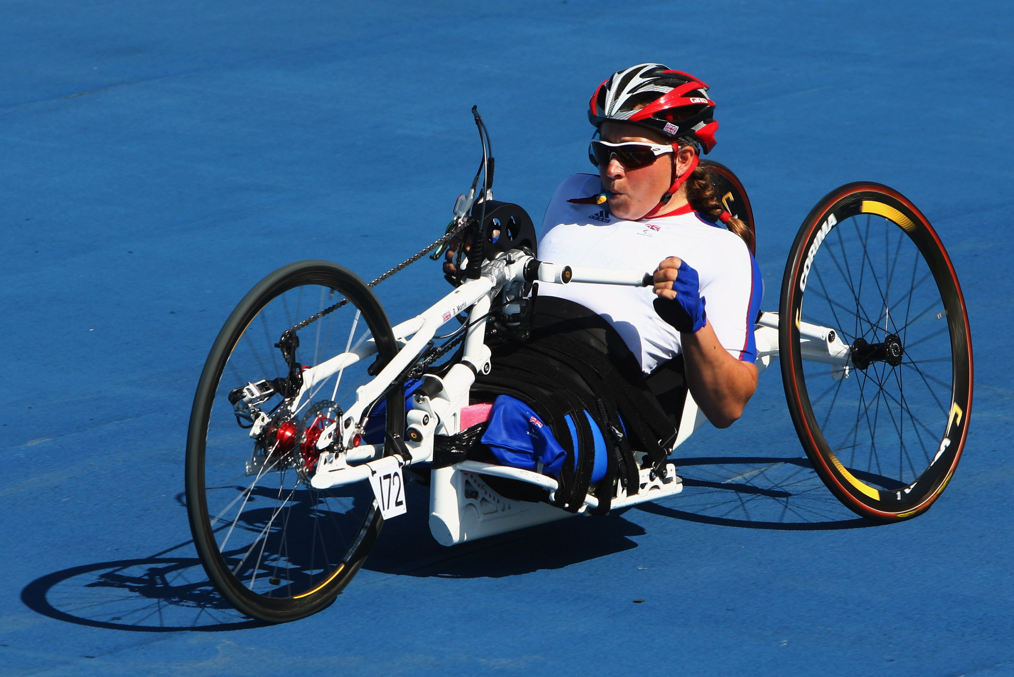 Rachel Morris won Paralympic medals in cycling before switching to rowing ©Getty Images