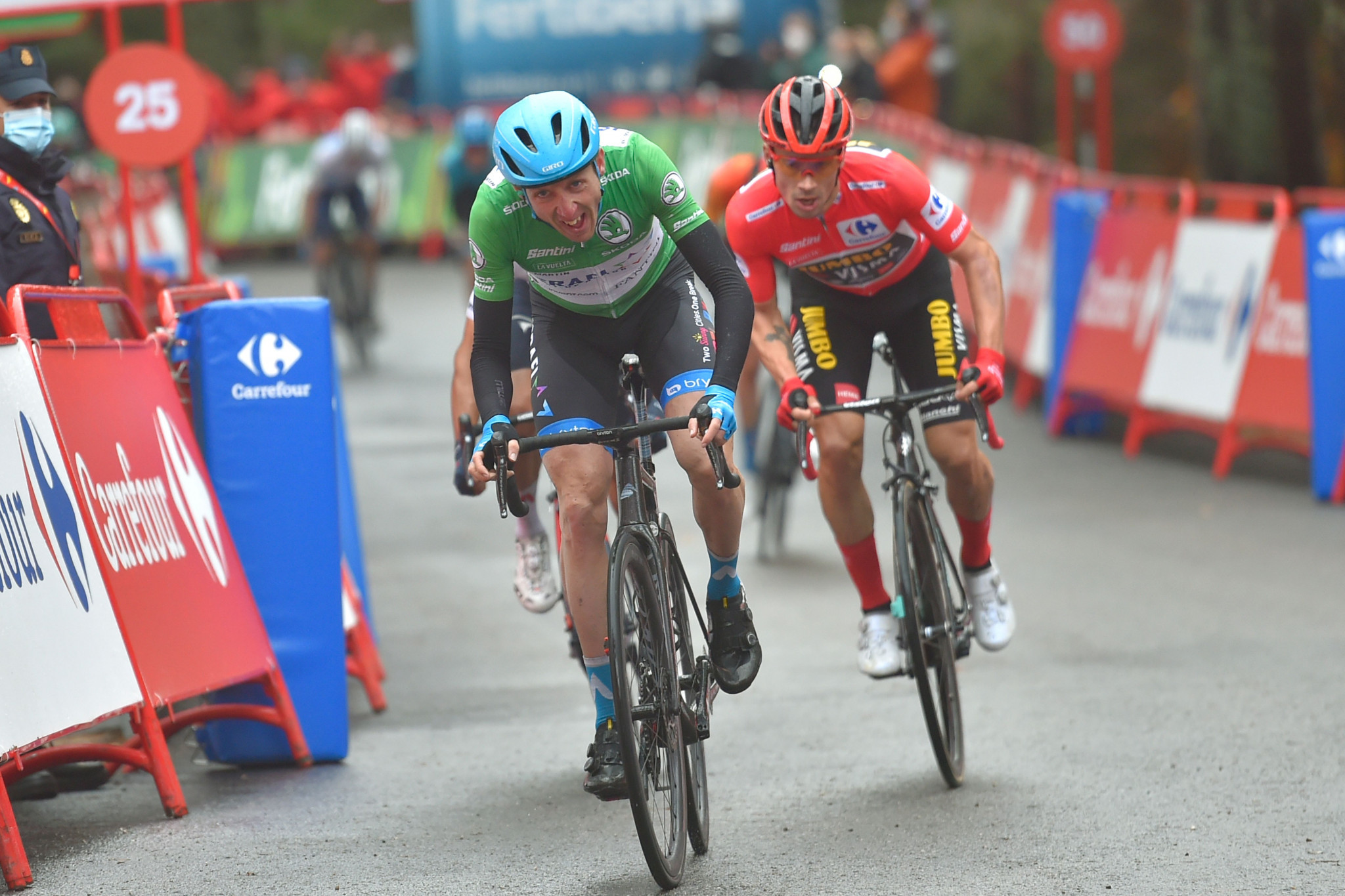 Martin snatches stage victory at Vuelta a España as route adjusted to avoid France