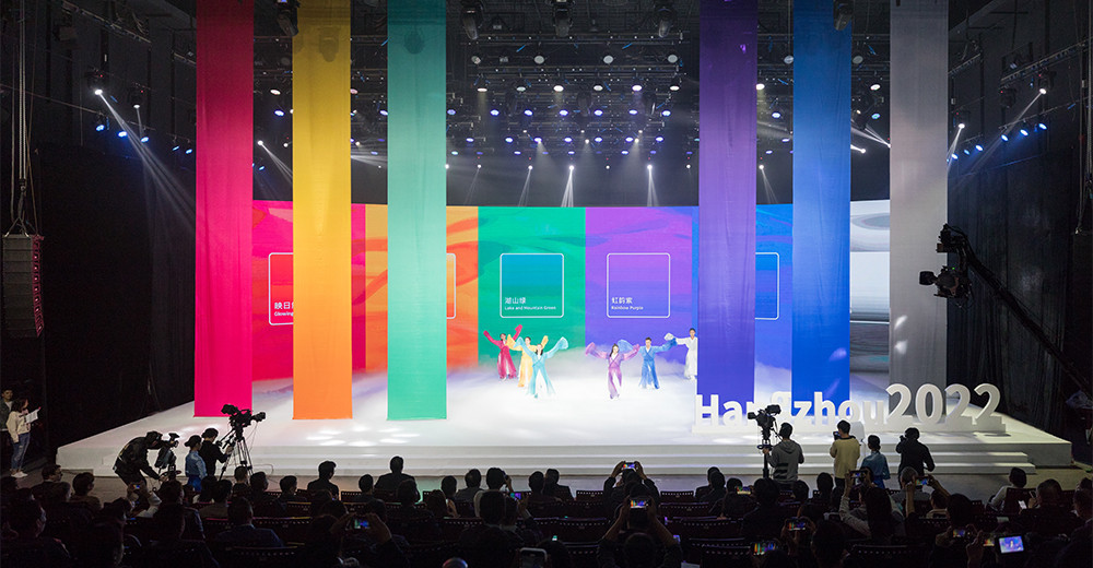 "The Hangzhou 2022 colour system has been launched under the theme ""harmony of colours"" ©Hangzhou 2022"