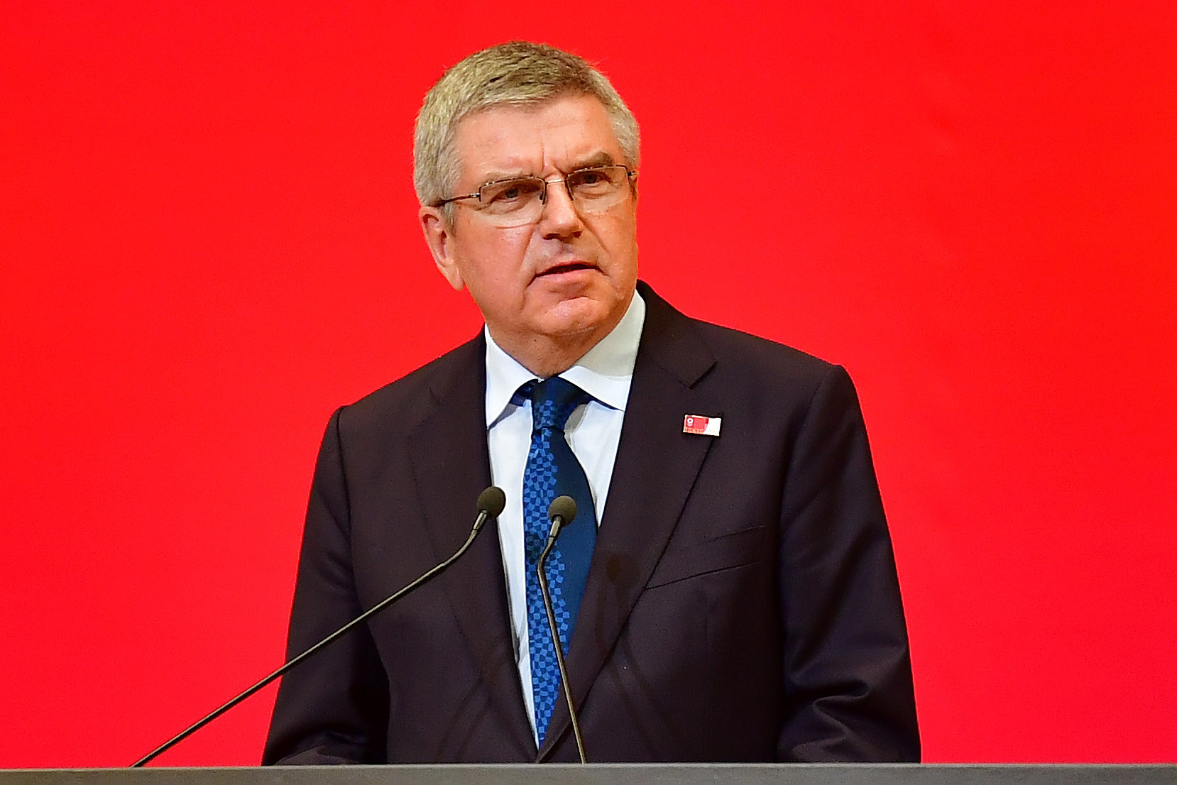IOC President Thomas Bach was a speaker at the virtual World Olympians Association General Assembly ©Getty Images