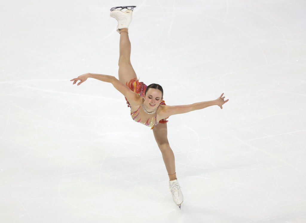 Mariah Bell won the women's short programme on the first day in Las Vegas ©Getty Images