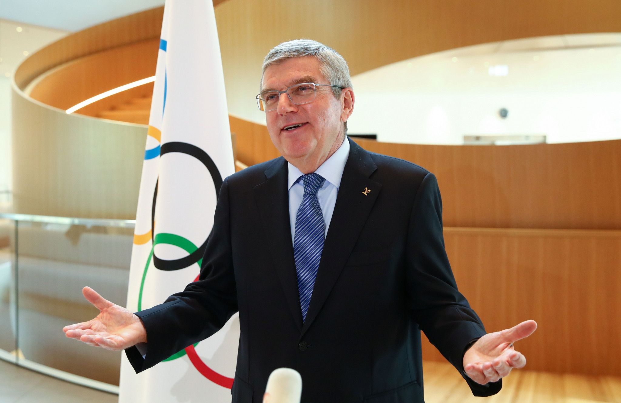 "Thomas Bach warned that ""the Games will descend into a marketplace of demonstrations of all kinds, dividing and not uniting the world"", if existing rules preventing protests were not enforced ©Getty Images"
