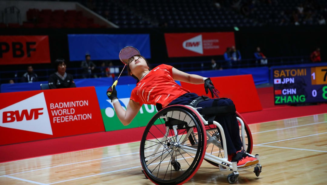 Sarina Satomi lost the ability to move her legs following injuries sustained in a car accident in May 2016 ©Japan Para Badminton Federation
