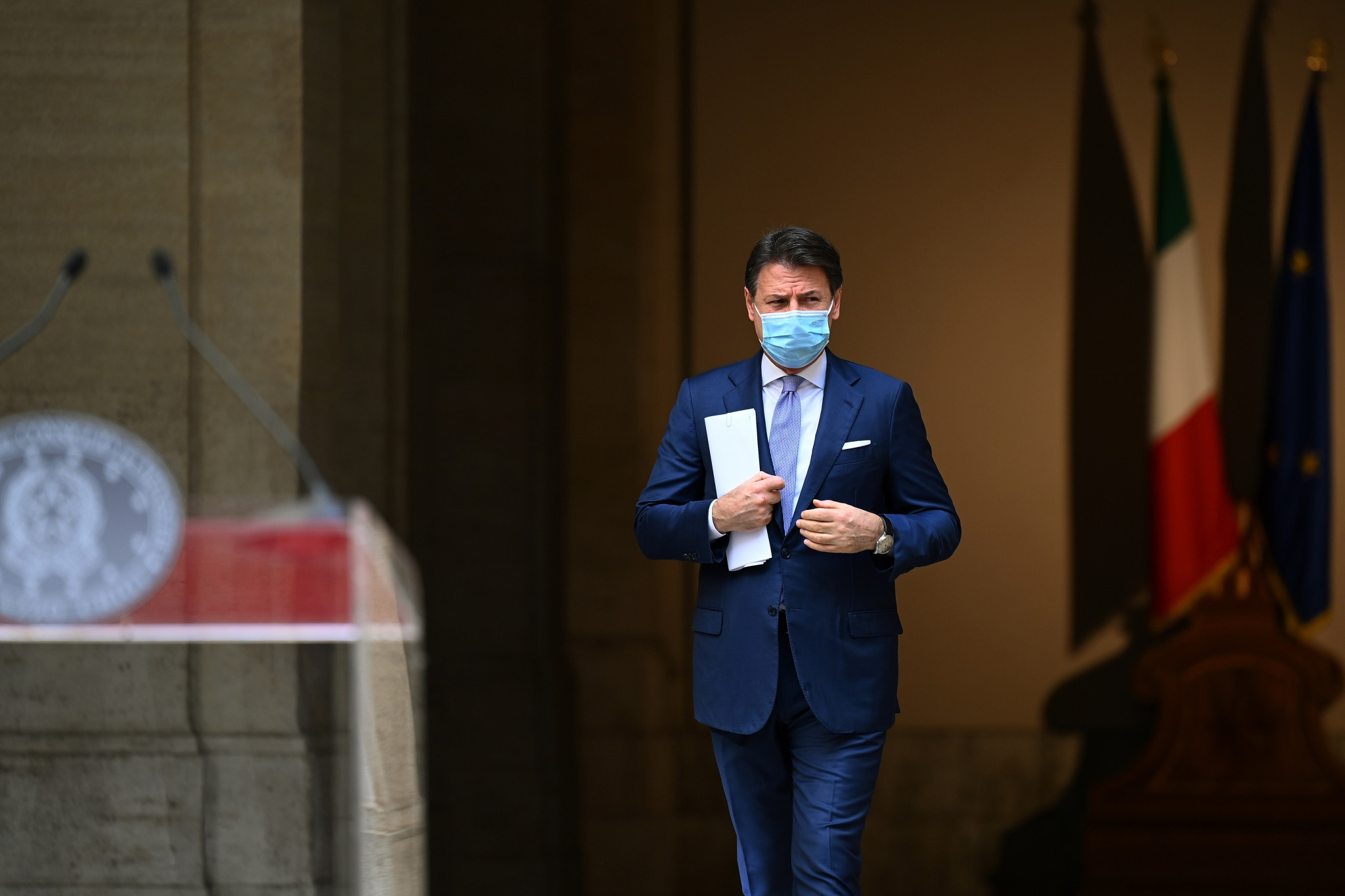 Italian Prime Minister Giuseppe Conte has prohibited fans attending matches today ©Getty Images