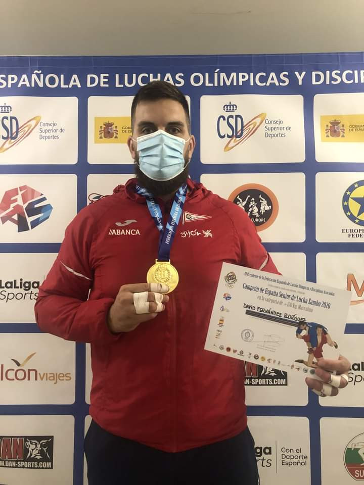 David Fernández won among the winners at the Spanish Sambo Championships ©Twitter/RGCC_Oficial