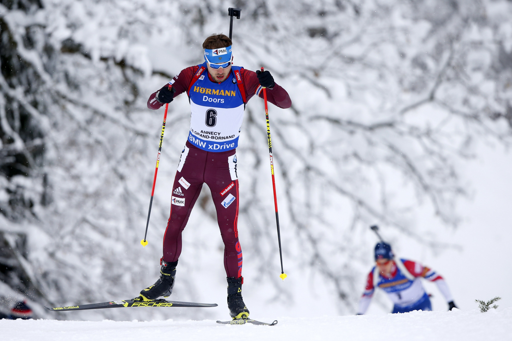 Russian biathlete Anton Shipulin contracted coronavirus in July before going on to make a full recovery ©Getty Images