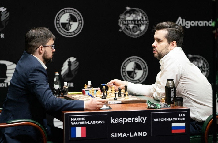France's Maxime Vachier-Lagrave and Russia's Ian Nepomniachtchi are poised to resume their battle in Russia next year ©FIDE