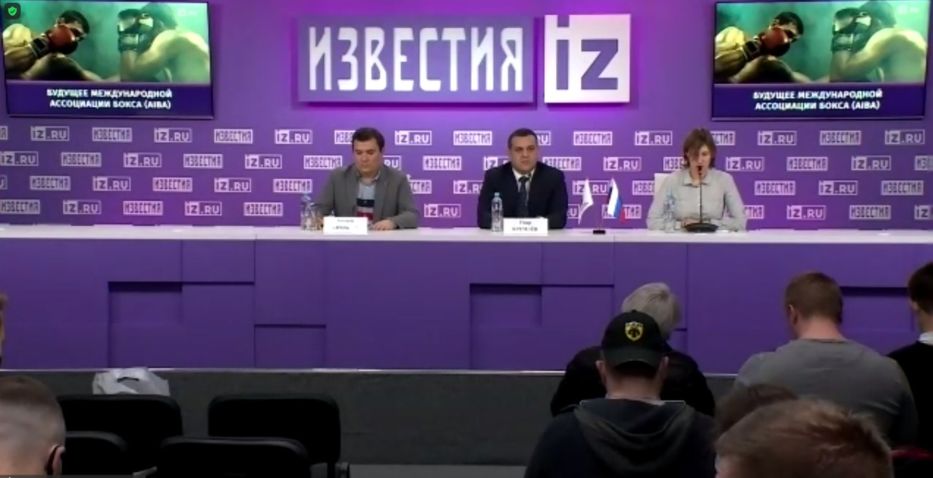 Umar Kremlev launched his campaign to become the new President of AIBA at a special press conference in Moscow that was also broadcast to international members of the media ©Zoom
