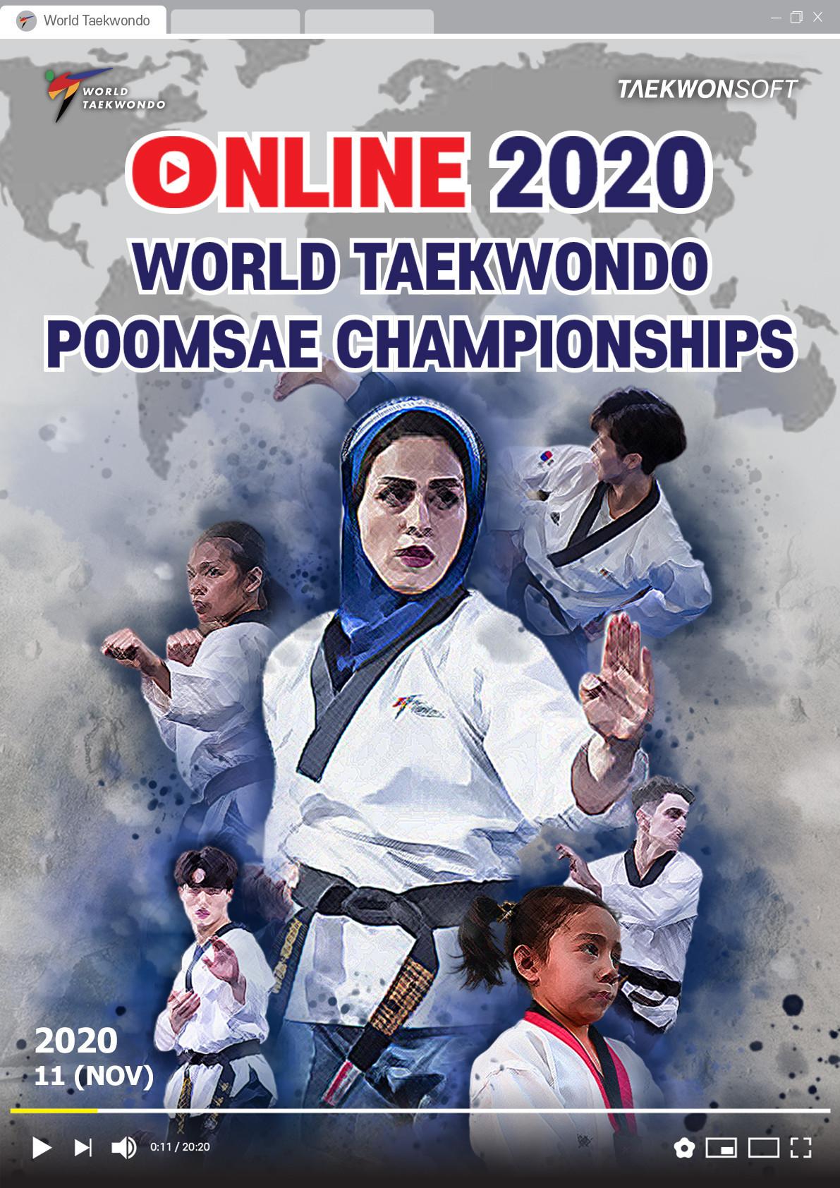 "World Taekwondo has announced that its inaugural Online World Taekwondo Poomsae Championships will be ""open to all"" from November 15 ©World Taekwondo"