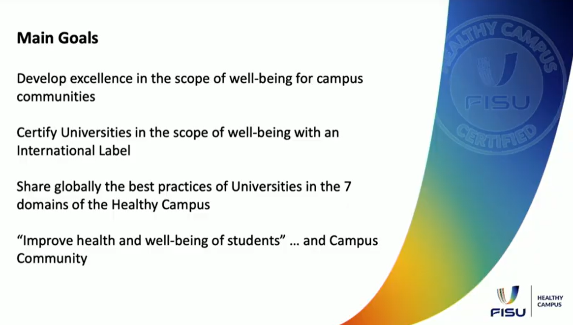 The FISU Healthy Campus programme, launched in May, now involves 42 universities across 30 countries, with another eight registrations pending ©Smart Cities & Sport