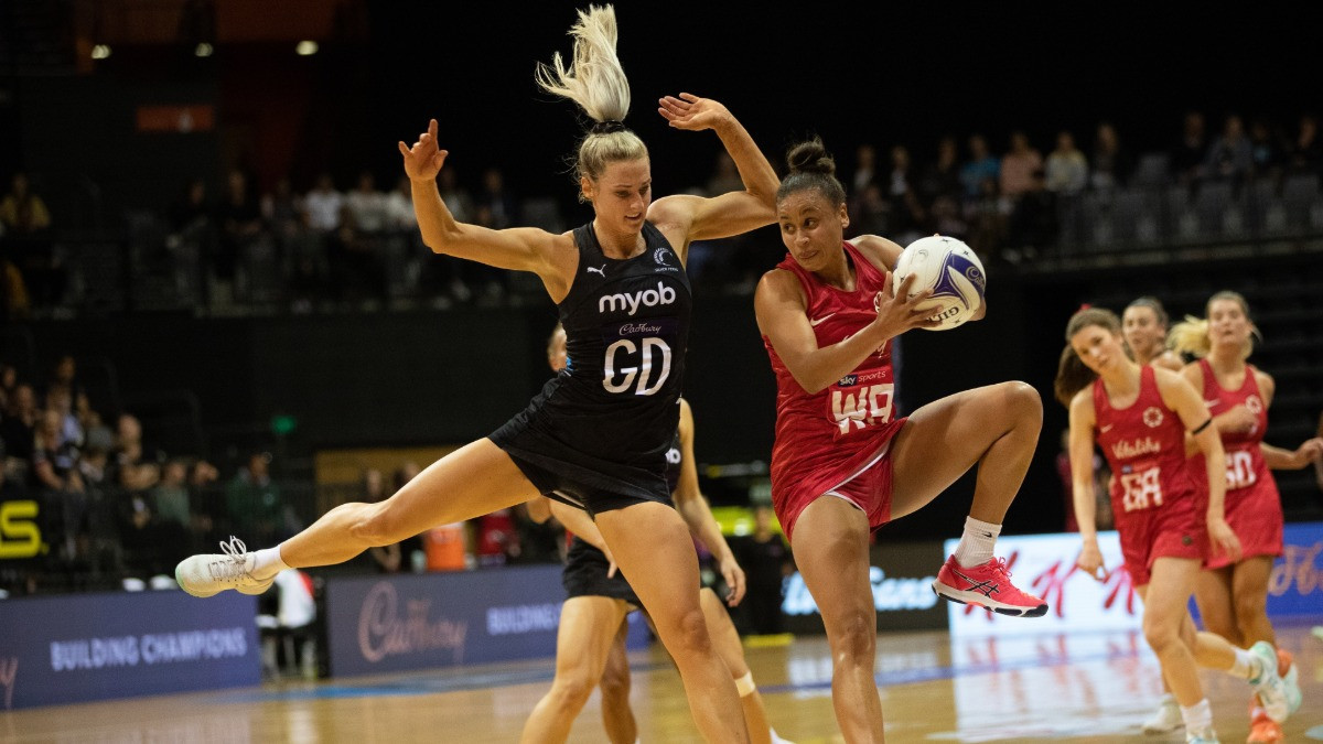 New Zealand overcame England 58-45 in the opening clash of a three-match netball series in Hamilton ©Twitter