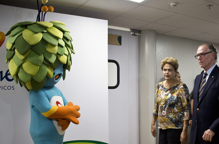 Brazilian President Dilma Rousseff with Rio 2016 head Carlos Nuzman ahead of the meeting ©AFP/Getty Images