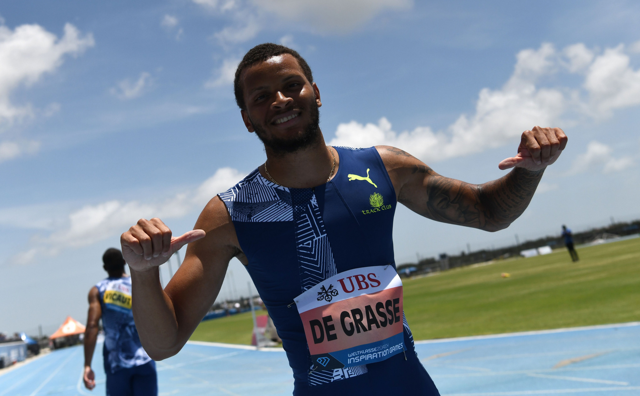 Donovan Bailey has suggested Andre De Grasse could benefit from Christian Coleman's ban ©Getty Images