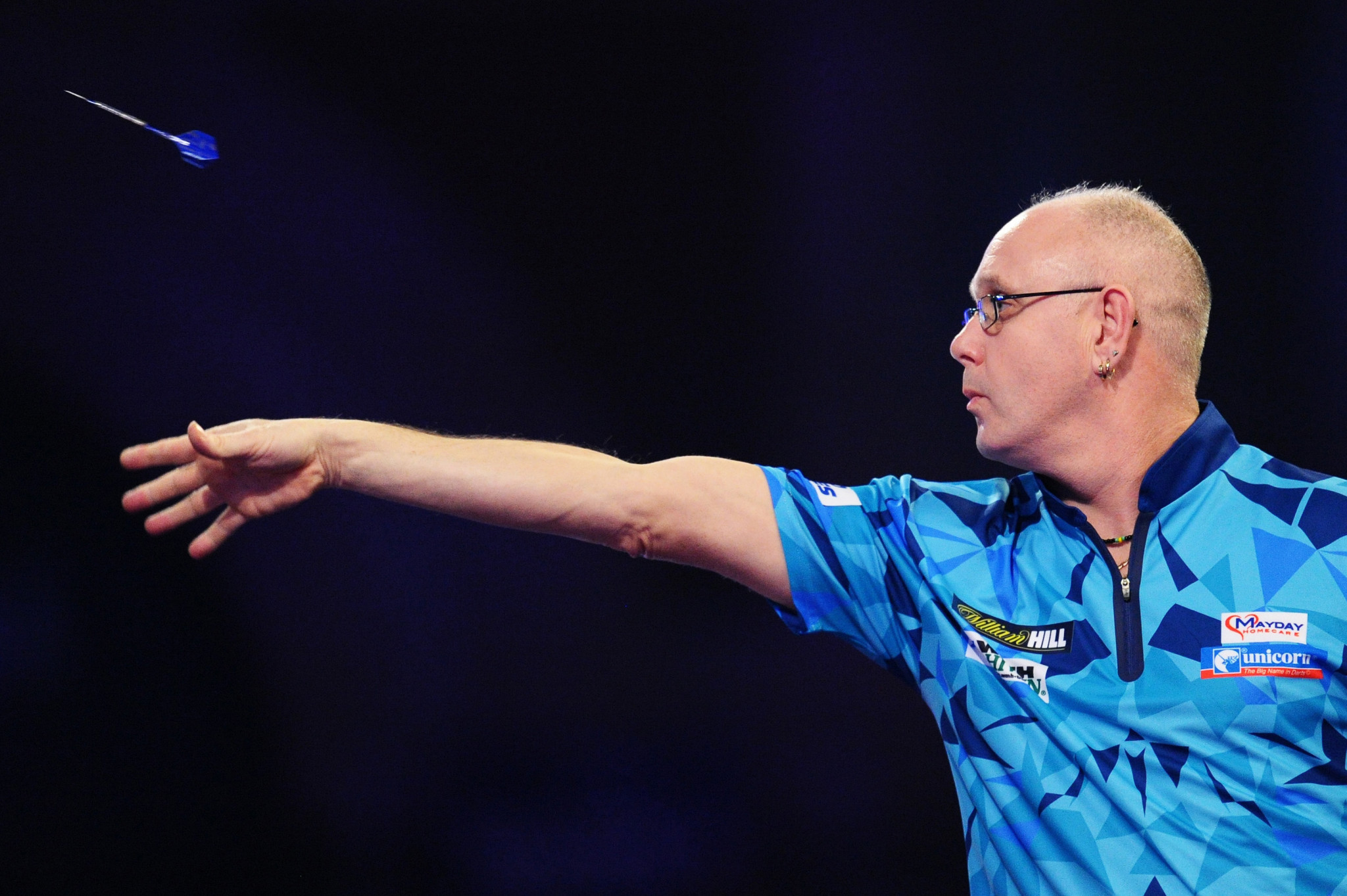 Ian White caused the biggest upset on day two of the European Darts Championship ©Getty Images
