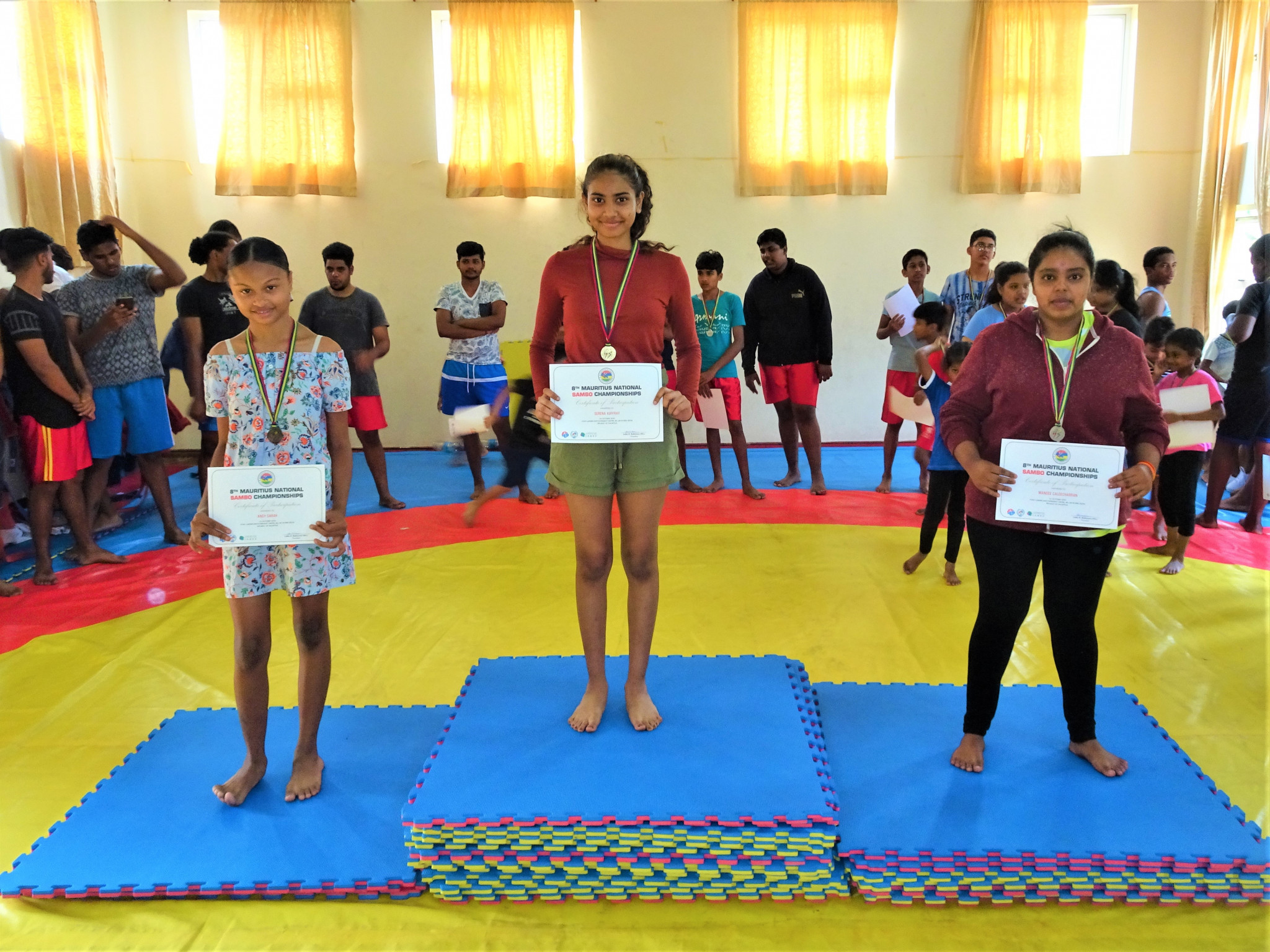 Mauritius Sambo Federation President Parsad Balkissoon said the increase in the number of girls participating in sambo was particularly pleasing ©Mauritius Sambo Federation