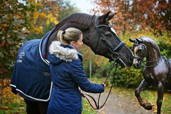 A bronze statue of triple Olympic gold medal-winning horse Valegro has been unveiled in Gloucestershire town Newent ©Twitter
