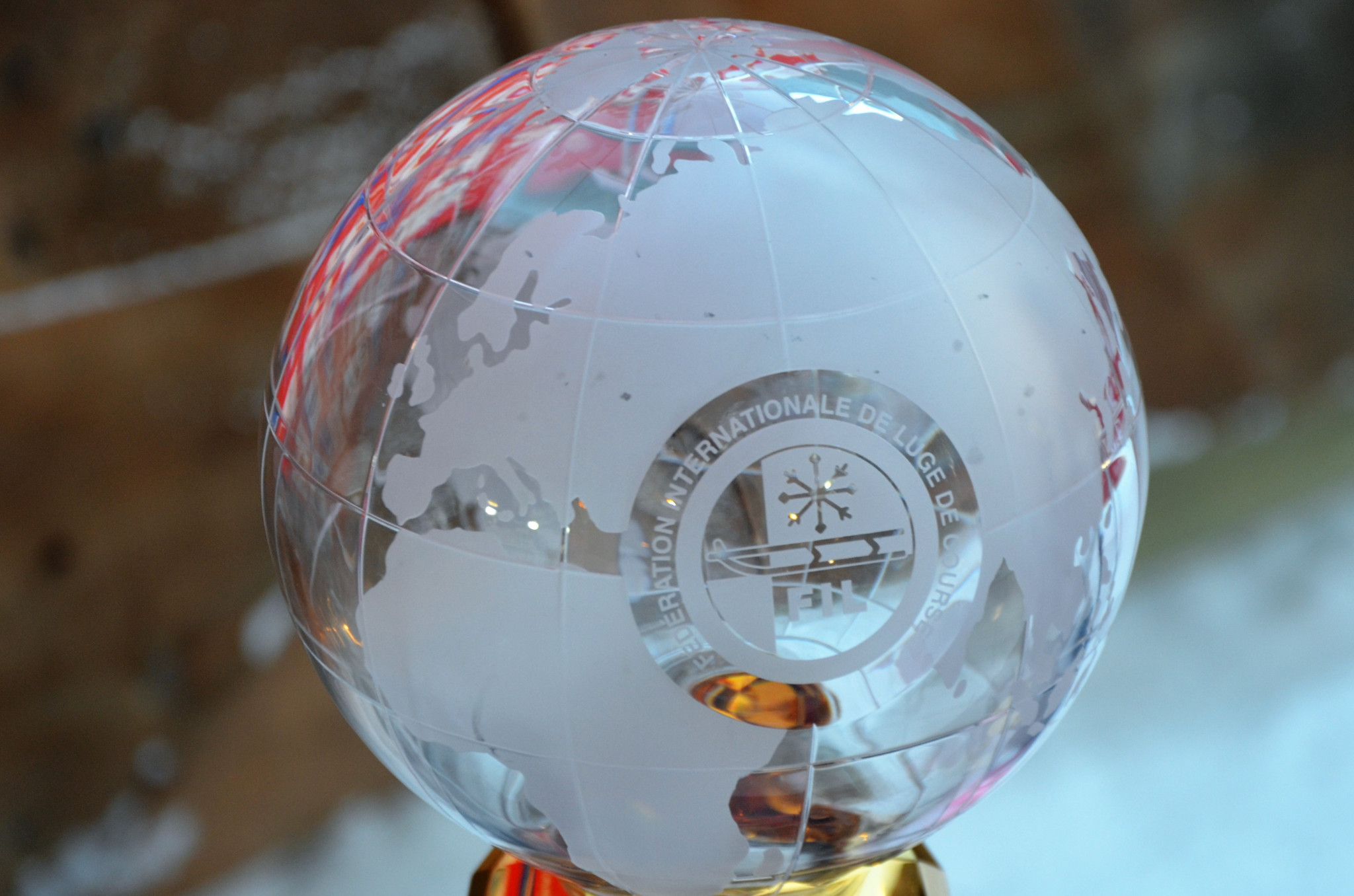 FIL introduce small crystal globes for Luge World Cup and Sprint World Cup winners