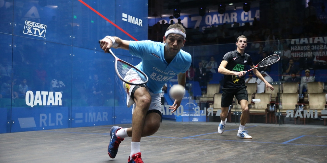 Farag and ElShorbagy to battle it out for world number one spot at PSA Qatar Classic