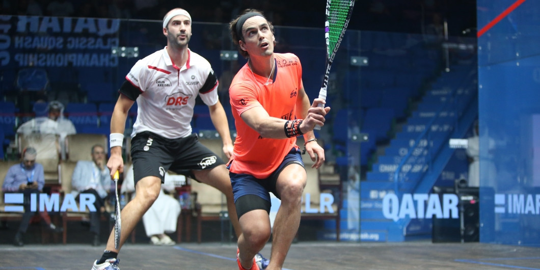 New Zealand's Paul Coll, right, is among the other players set to be in action in Qatar ©PSA