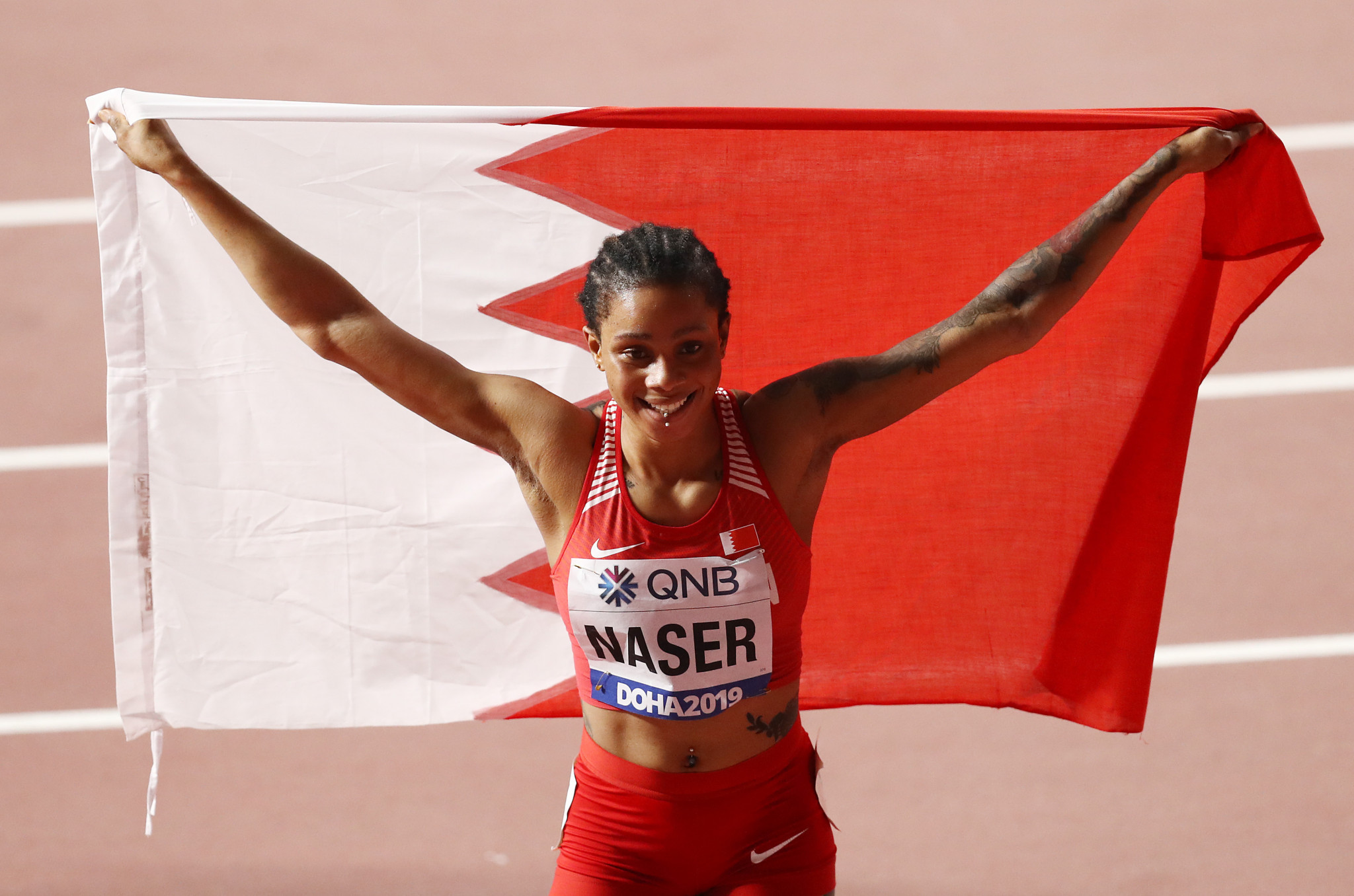The decision by the World Athletics Disciplinary Tribunal not to uphold the Athletics Integrity Unit's proposed ban on Bahrain's world 400m champion Salwa Eid Naser has proved controversial ©Getty Images