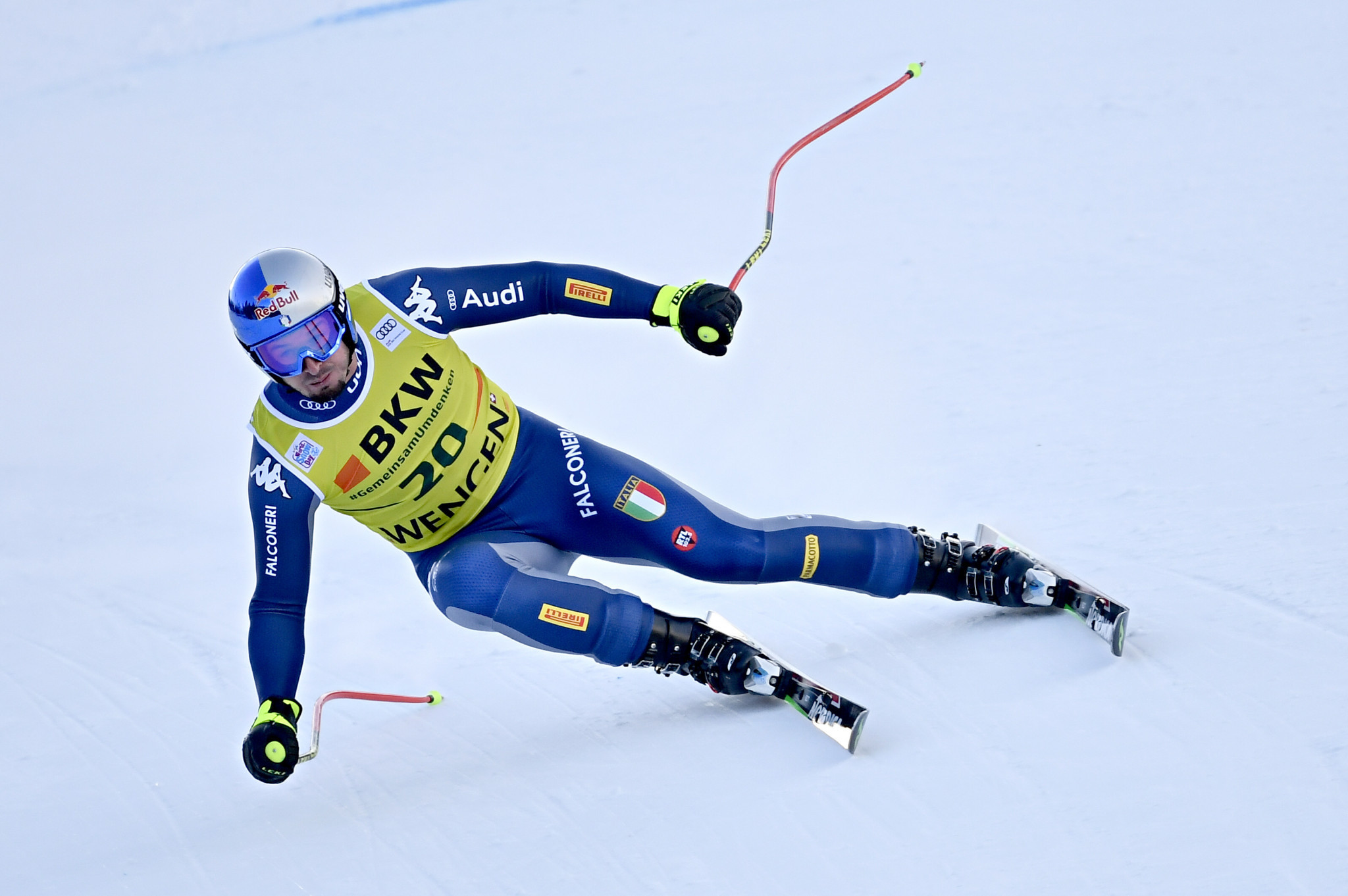 Dominik Paris of Italy will be looking to defend his super-G title at the 2021 FIS Alpine World Ski Championships in his home country ©Getty Images