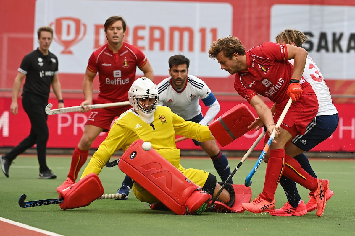 Table-toppers Belgium won the men's match after coming from 1-0 down ©FIH