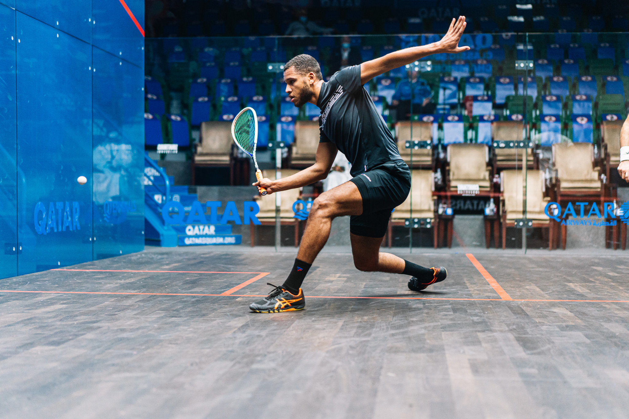 England's Richie Fallows beat Tayyab Aslam in the first round of the PSA Qatar Classic ©PSA