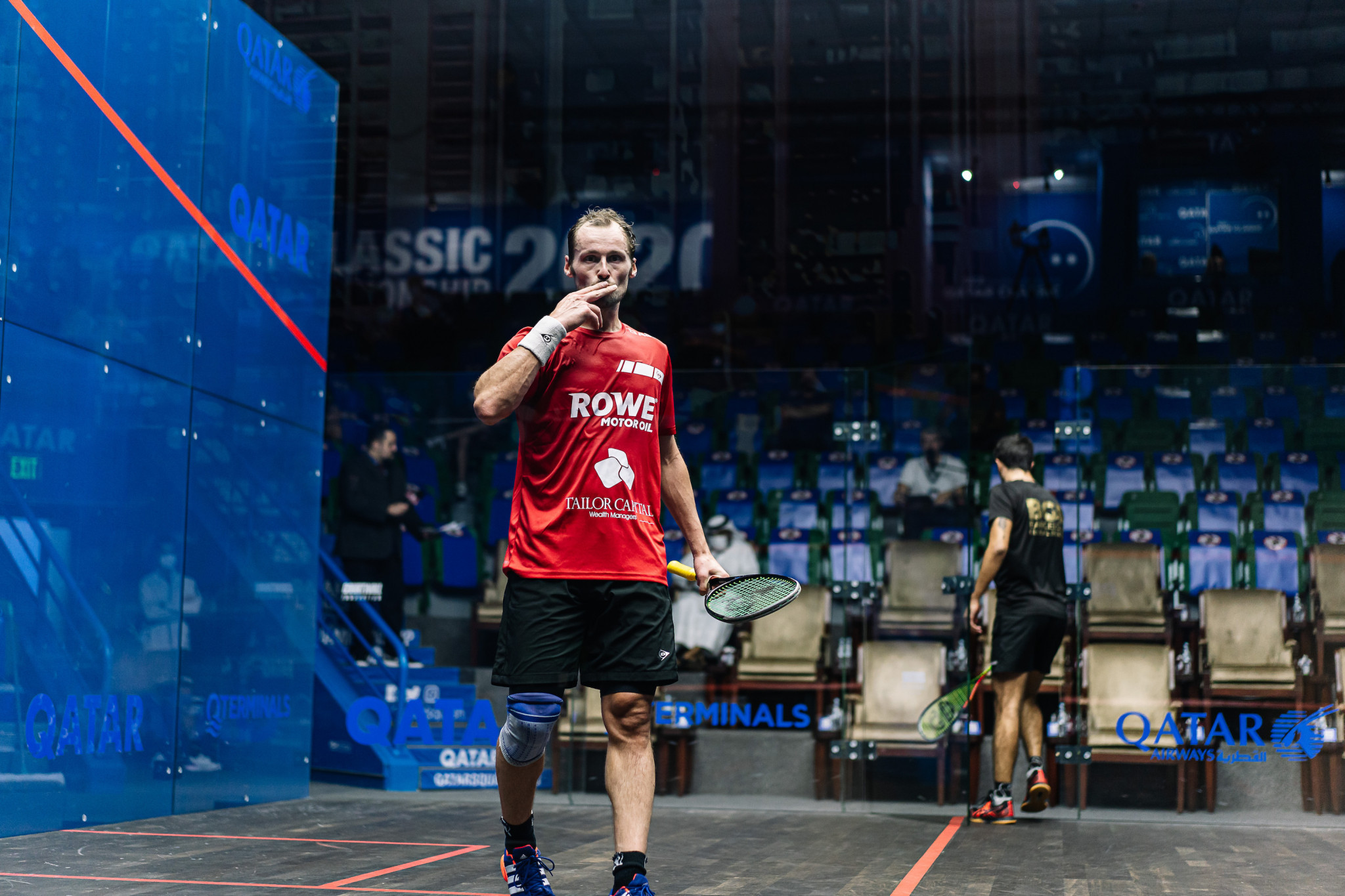 Former world number one Gregory Gaultier booked his place in the second round with victory over Spain's Iker Pejares ©PSA