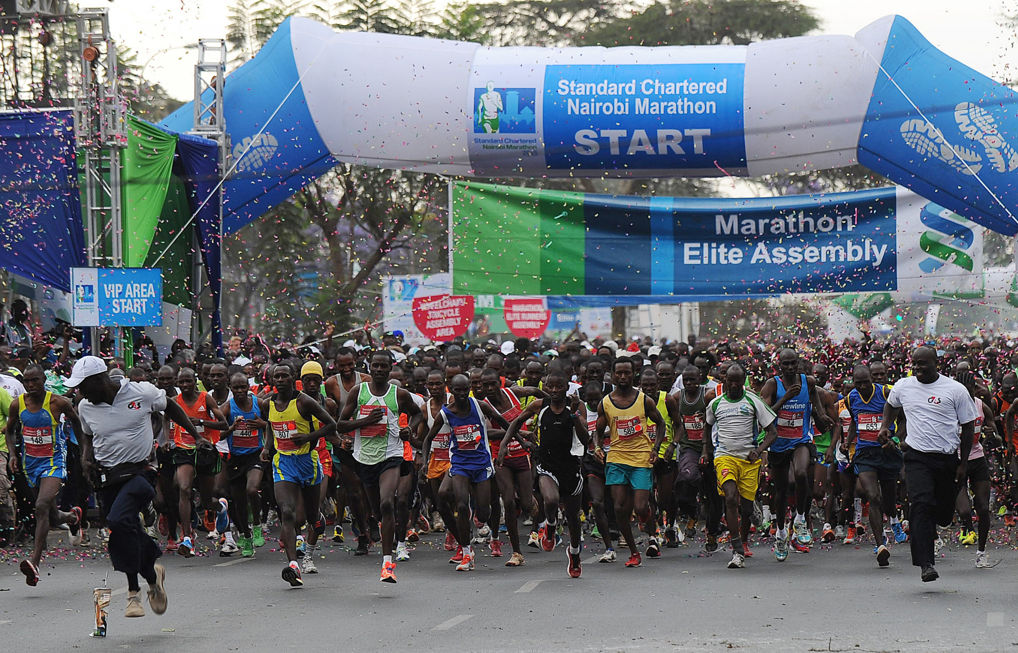 Standard Chartered backs the Nairobi Marathon which was cancelled this year ©Getty Images