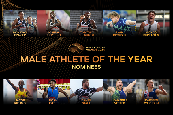 Duplantis and Cheptegei headline shortlist for World Athletics Male Athlete of the Year award