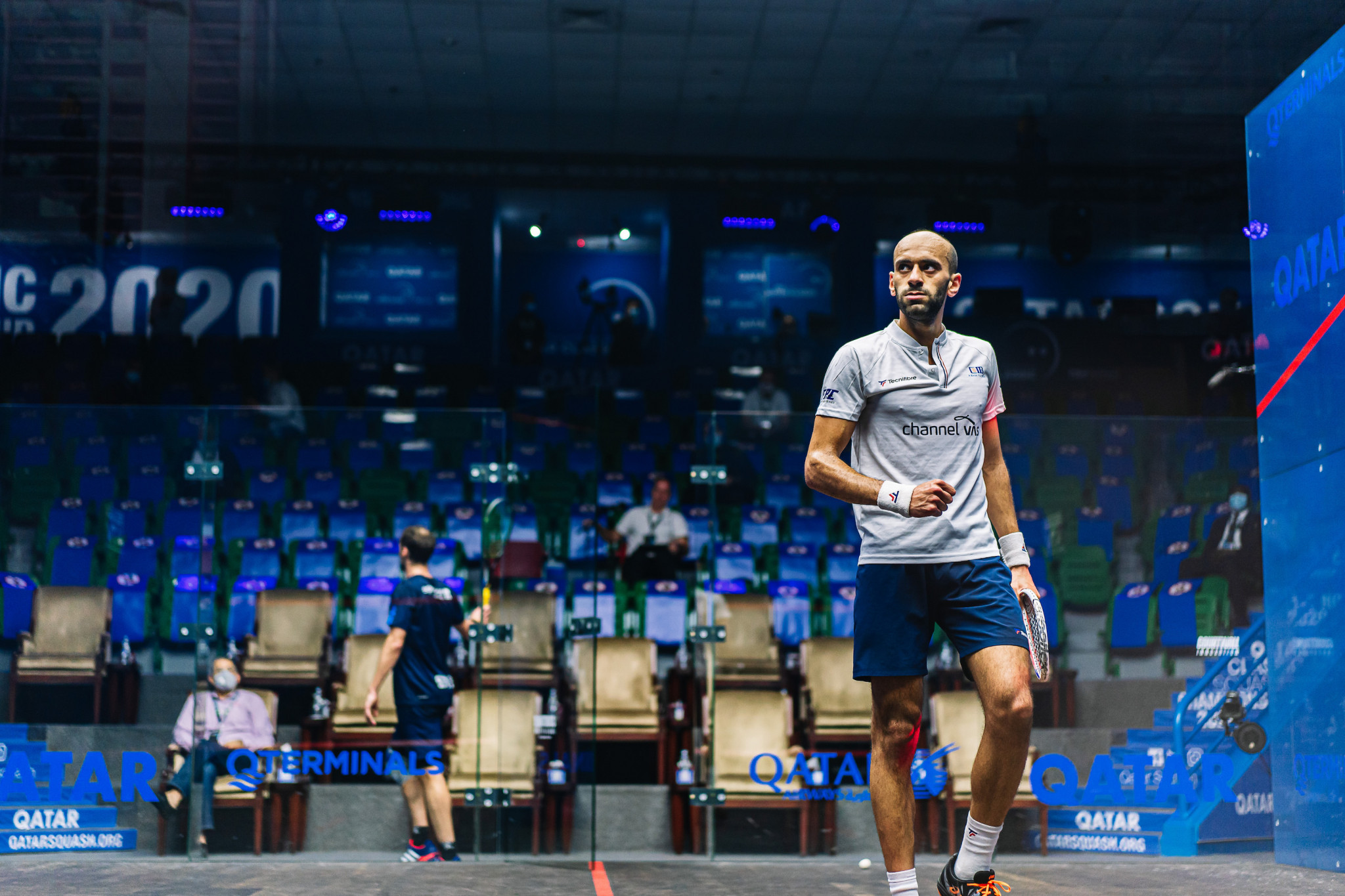 Marwan ElShorbagy, the world number six, is also through after beating Gregory Gaultier of France ©PSA